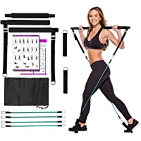 Artoflifer Exercise Resistance Band Yoga Pilates Bar Kit Portable Pilates Stick Muscle Toning Bar Home Gym Pilates with…