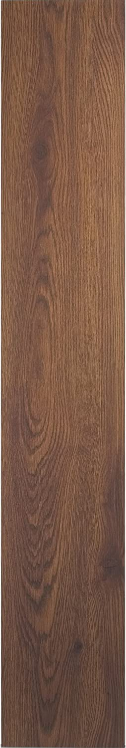 Achim Home Furnishings VFP1.2WA10 3-Foot x 6-Inch Vinyl Flooring Plank, Walnut, 10-Pack