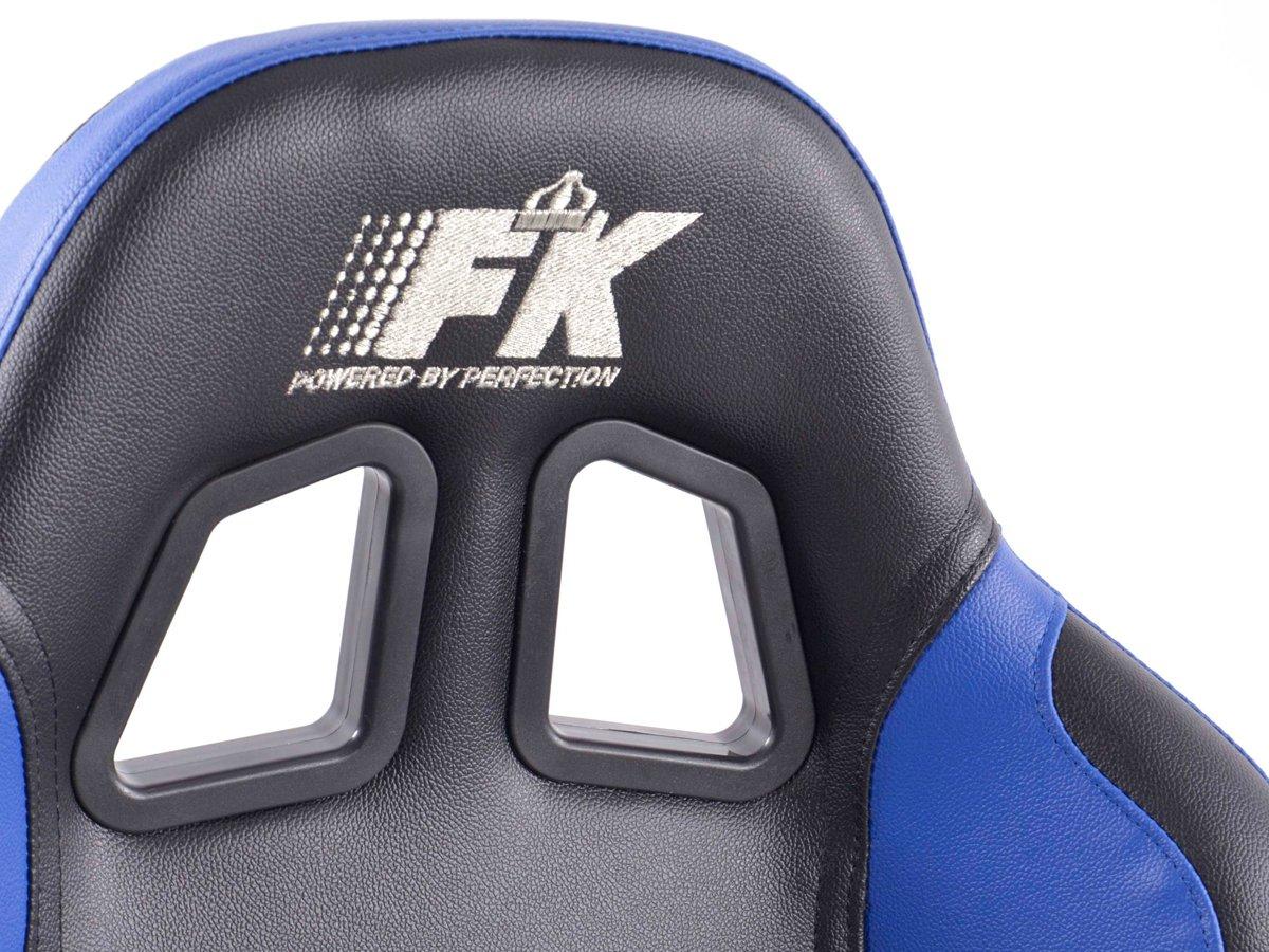 FK Automotive de si/ège Sport Set Boston en cuir synth/étique Noir//bleu