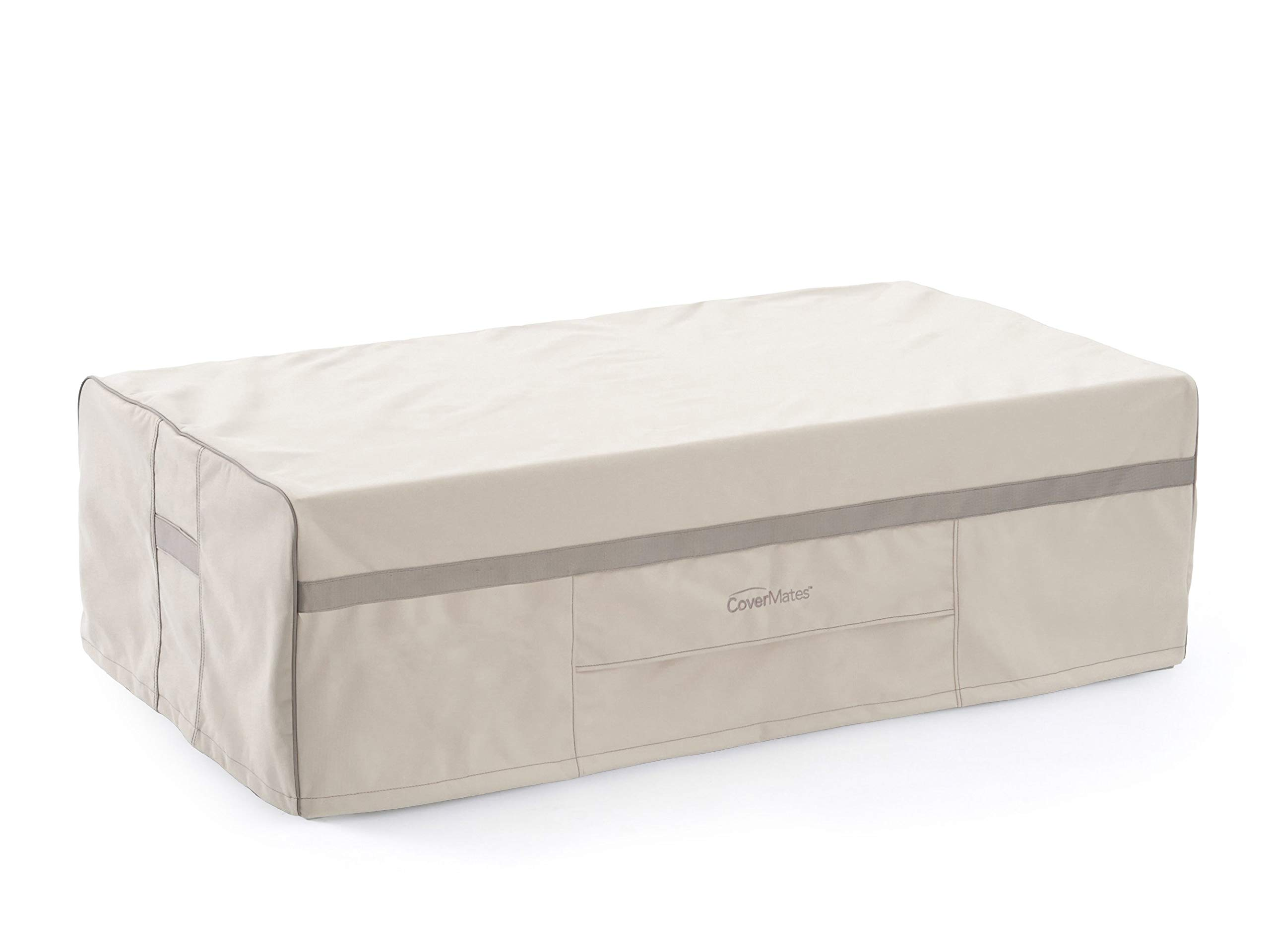 Covermates –Storage Bench Cover – 52W x 30D x 21H – Prestige Collection – 7 YR Warranty – Year Around Protection- Stone