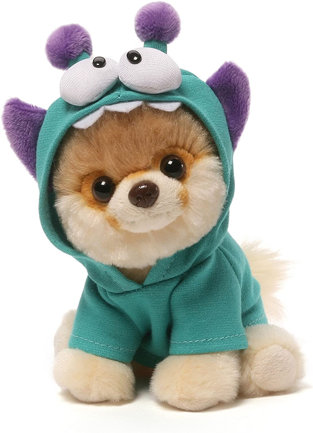 Amazon Com Gund Itty Bitty Boo 034 Monsteroo Dog Stuffed Animal Plush 5 Multi Color Toys Games