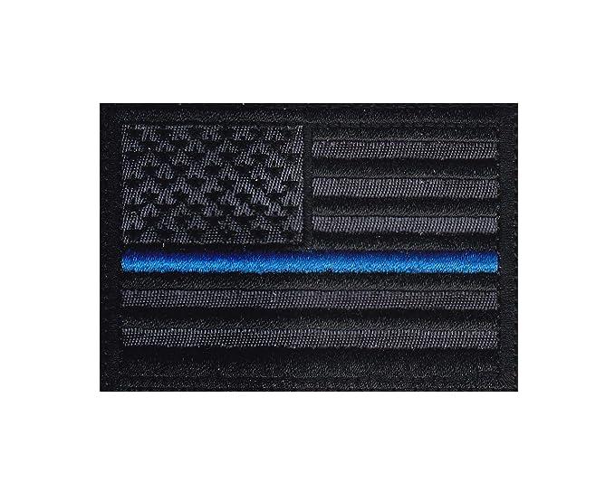 933cee8b8 Amazon.com  Blue Line Police Black Flag Tactical Morale Hook Side ...