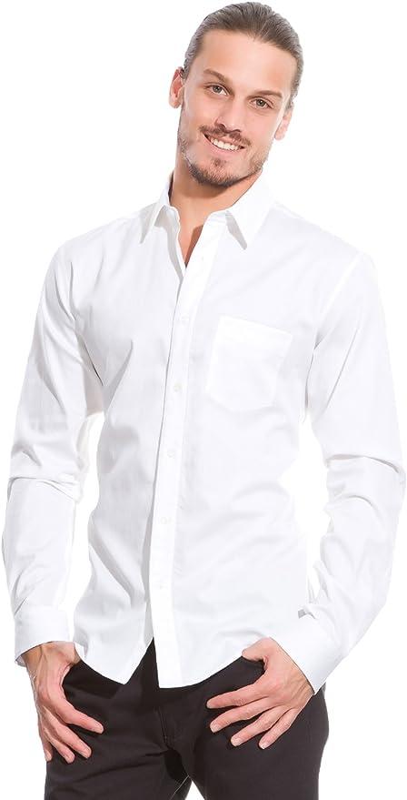 Springfield Camisa En Popelín con Micro Estructura Blanco S ...