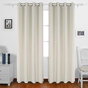 Living Room Curtains amazon living room curtains : Amazon.com: Deconovo Solid Color Grommet Curtains Blackout Panels ...