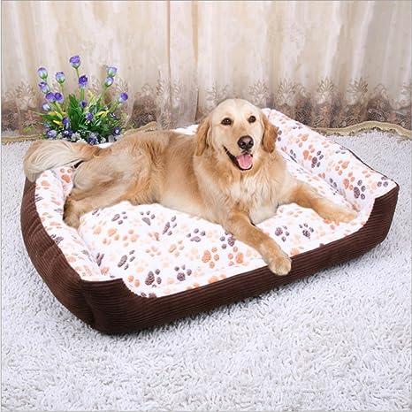 Skyoo - Caseta ortopédica para perro, para invierno, cálida, cama para mascotas,