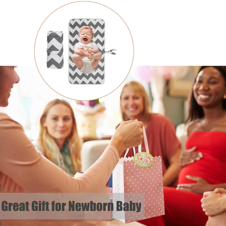 Wickelunterlage faltbar tragbar f/ür Neugeborene und Kleinkinder f/ür zu Hause auf Reisen und im Freien
