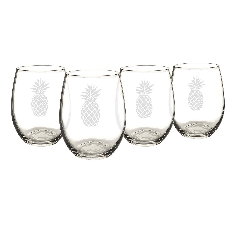 Amazon.com   Cathy\'s Concepts Pineapple Stemless Wine Glasses (Set ...