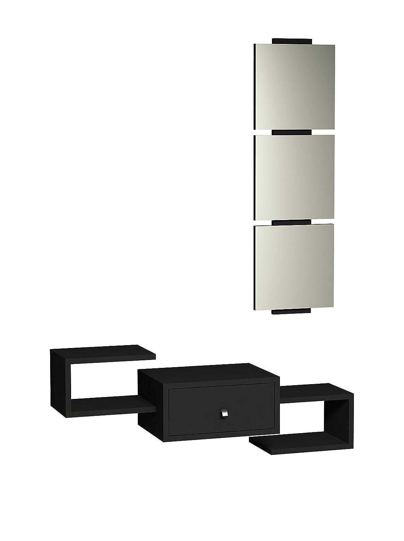 MINAR by Homemania Home Factory Set Mobile Ingresso 2 Pz. Dorado 8681285905284_ShinyBlack