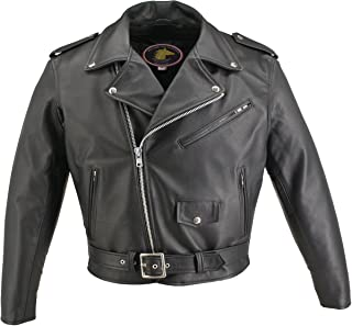 product image for Men's Basic Motorcycle Horsehide Jacket (40 Long/Tall)