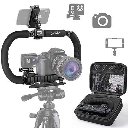 Zeadio Estabilizador para cámara teléfono GoPro, Empuñadura ...