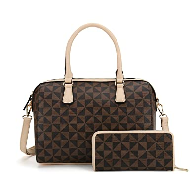 Amazon.com  Handbags for Women Shoulder Bags Tote Satchel Hobo 2pcs wallets  Purse Set  Shoes 73ba8847aaf5e