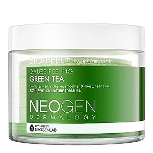 DERMALOGY by NEOGENLAB Bio-Peel Gauze Peeling Pads, Green Tea, 30 Count