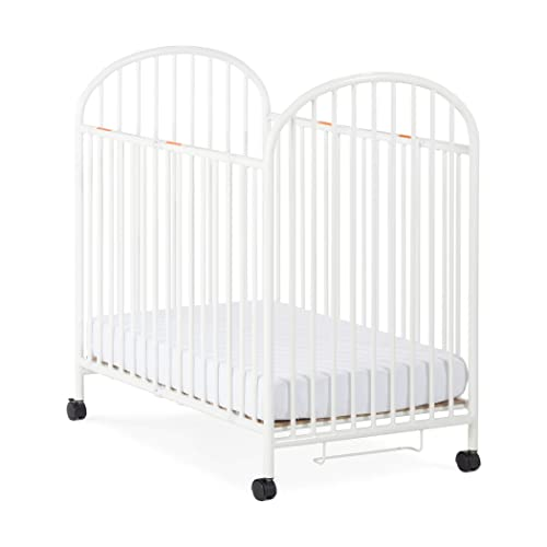 Child Craft Compact Arched Sweet Dreamer Mini Portable Folding Metal Crib