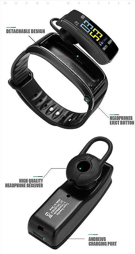 XZYP Y3 Fitness Tracker HR, AudíFonos Bluetooth Desmontables ...