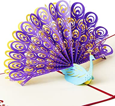 Enjoyable Osunp Peacock 3D Pop Up Greeting Card Handmade Birthday Card Funny Birthday Cards Online Alyptdamsfinfo