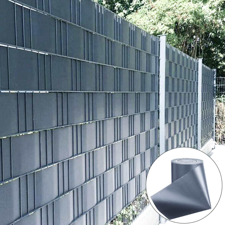 Antracite Froadp 10 Pezzi Schermi Divisori e Protettivi Visione Protezione Schermo in Rigido PVC Frangivento Oscurante per Il Giardino Recinto o Balcone 2.5m x 19cm