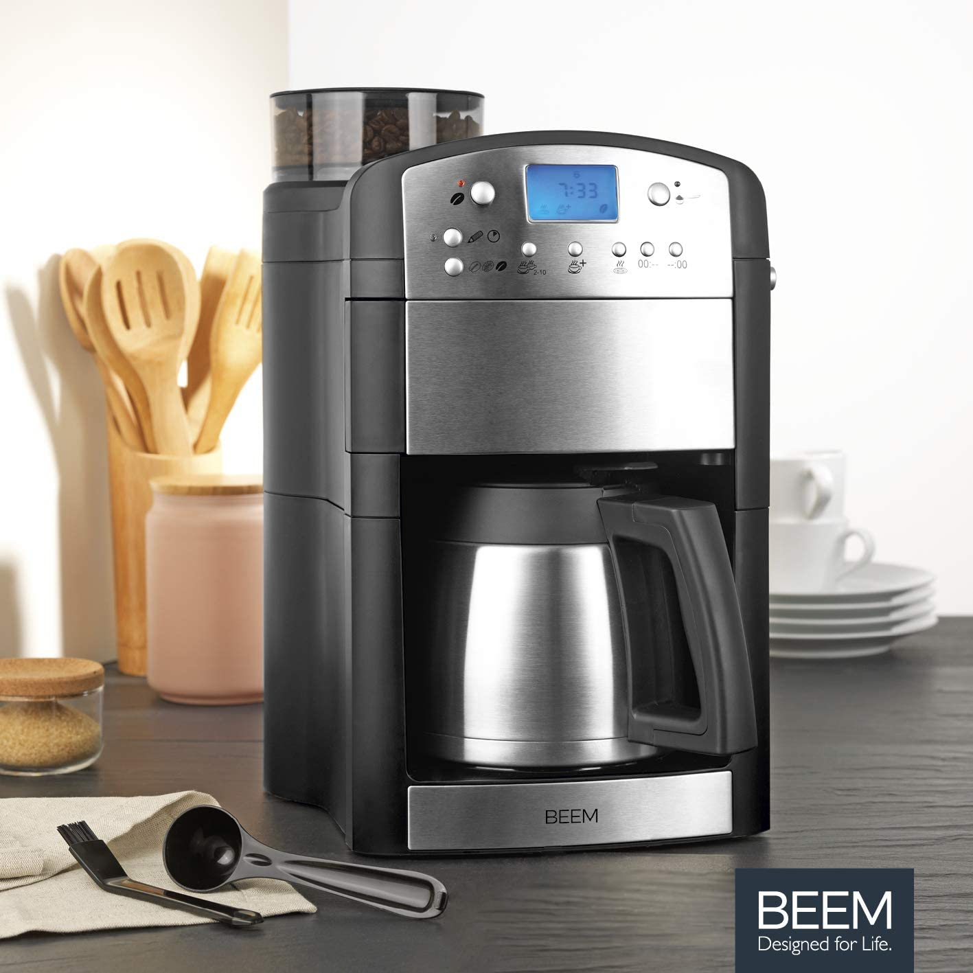 Beem Fresh-Aroma-Perfect Thermolux - Cafetera con molinillo para ...