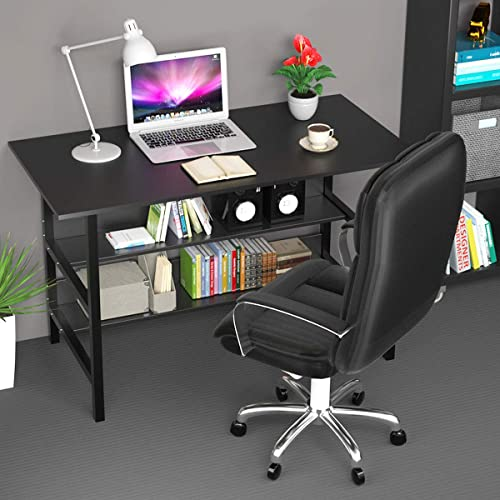 Home Office Computer Desk 47 Inch Modern Small Study Writing Table