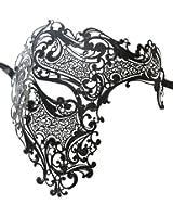 Luxury Mask Men's Signature Phantom Of The Opera Half Face Mask Metal