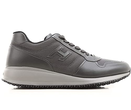 Hogan Scarpe Uomo Interactive N20 Sneaker HXM2460Y800CND338E Grigio in  Tessuto e Pelle (41.5 EU - c46da3de873