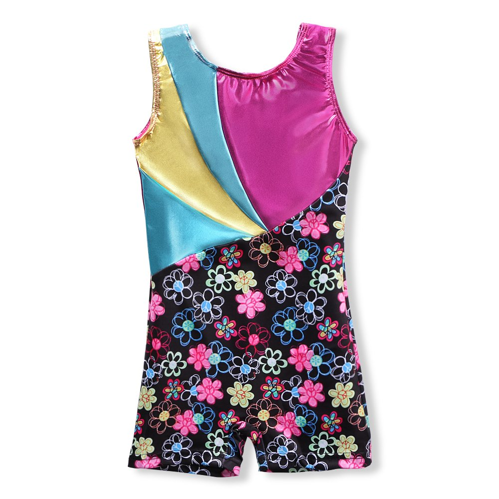 82af3ecdd Metallic Leotards for Girls Gymnastics 4t 5t 4-5 Rainbow Gold Hot ...