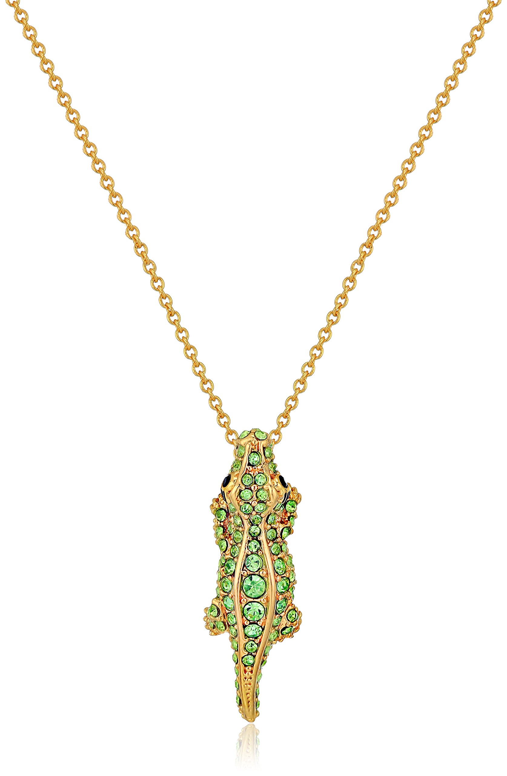 Kate Spade New York Pave Alligator Mini Pendant Swamped Pave Alligator Mini Multi Pendant Necklaces