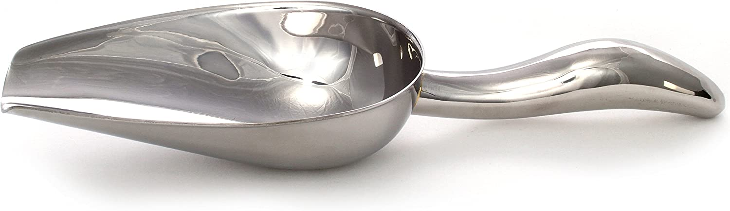 "5 oz Stainless Steel Scoop, 8.25"" Long by 2.75"" Wide 