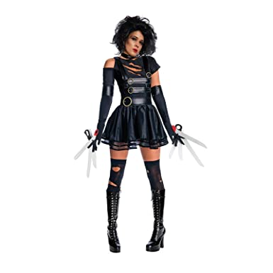 8ead45eb94e6e Amazon.com: Womens Adult Miss Edward Scissorhands Halloween Fancy Dress  Costume Outfit: Clothing