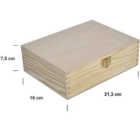 Caja para Té Bolsita Madera | 6 Compartimentos | 21,3 x 16 x 7,5 cm Decoradas Decoupage y Decoración
