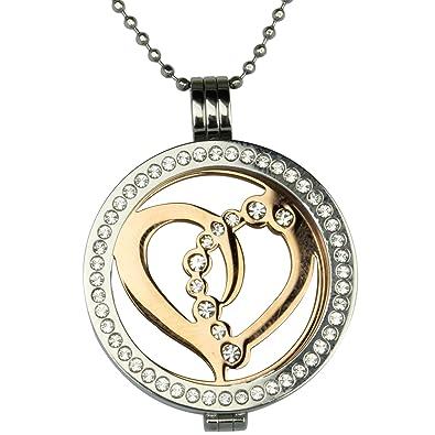 Mi Milano Love Münzemoneda Austauschbar Halskette Silber Anhänger