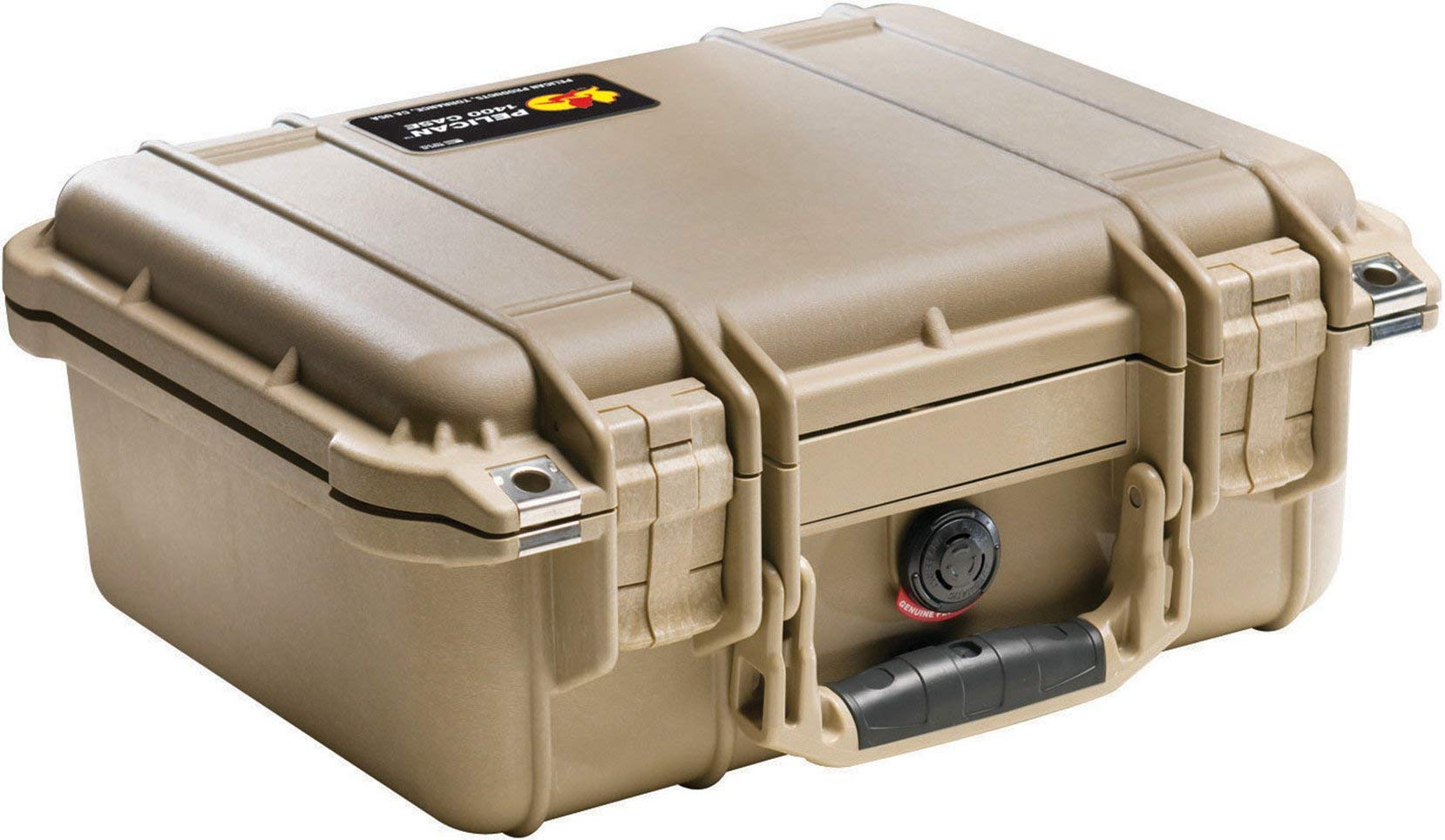 Pelican 1400 Camera Case With Foam (Desert Tan) (Renewed)