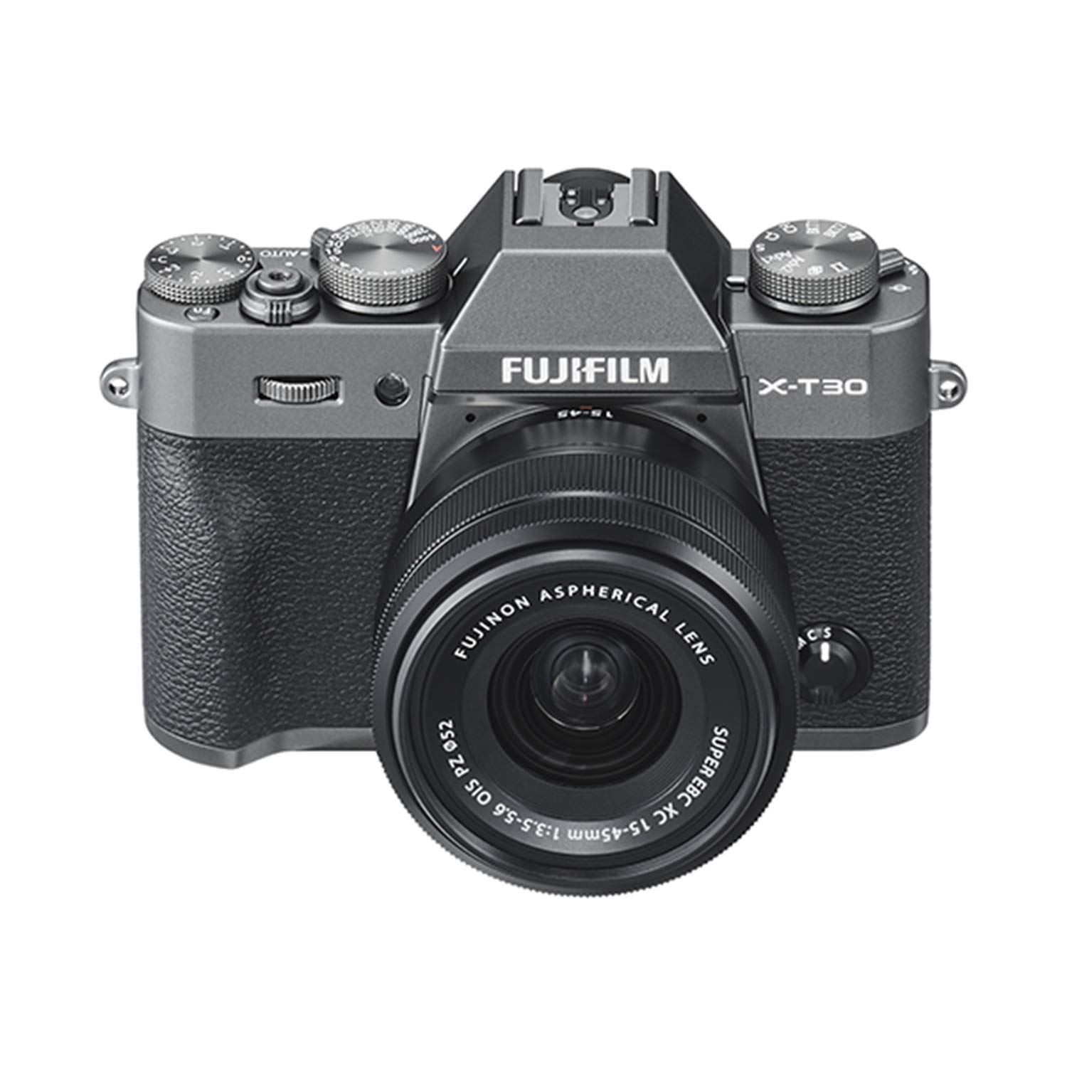 Fujifilm X-T30 Mirrorless Digital Camera w/XC15-45mm F/3 5-5 6 OIS PZ Lens,  Charcoal Silver
