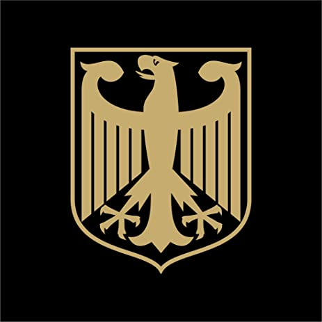 German eagle crest deutschland germany flag panzer decal sticker sizes colors die cut no