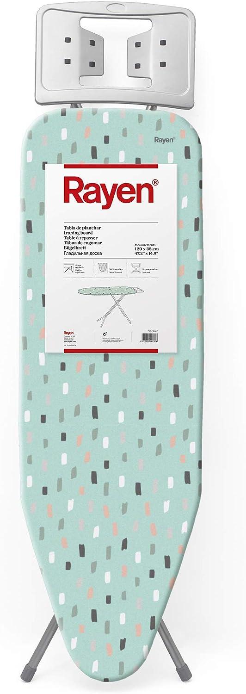 Rayen Planchar | Tabla con Malla metálica, Altura Regulable y reposa-Planchas | Medidas: 120 x 38 cm, Estampada, 120 x 38