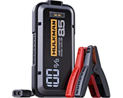 HULKMAN Alpha85 Jump Starter 2000 Amp 20000mAh Car Starter for up to 8.5L Gas and 6L Diesel Engines with LED Display 12V Lith