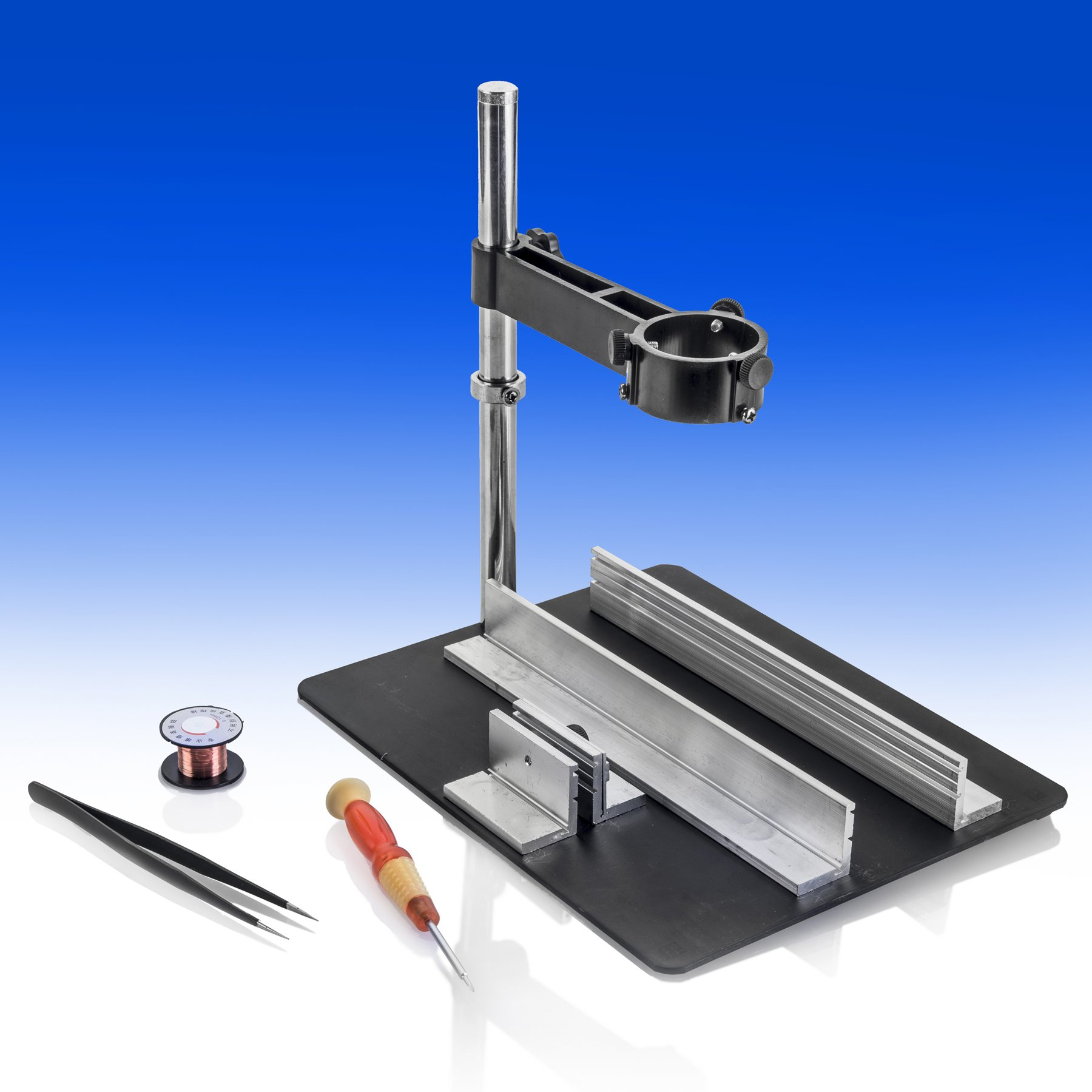 X-TRONIC MODEL XTR-2010-XTS Magnetic Hands Free Soldering Circuit Board Holder w/Hot Air Gun Bracket
