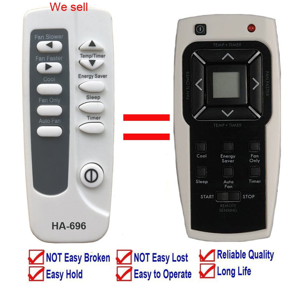 YING RAY Replacement for Kenmore Air Conditioner Remote Control 5304476246 for Model 253.70085 253.70085010 253.70085011 253.70135010 253.70135011 253.70181 253.70181010 253.70181011 253.70181012