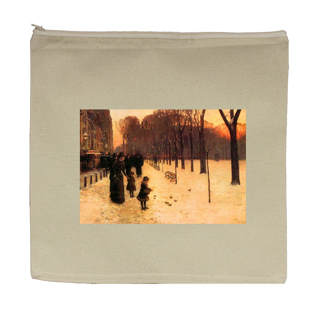 Boston In Everyday Twilight (Hassam) Canvas Zipper Tote Bag Makeup Bag