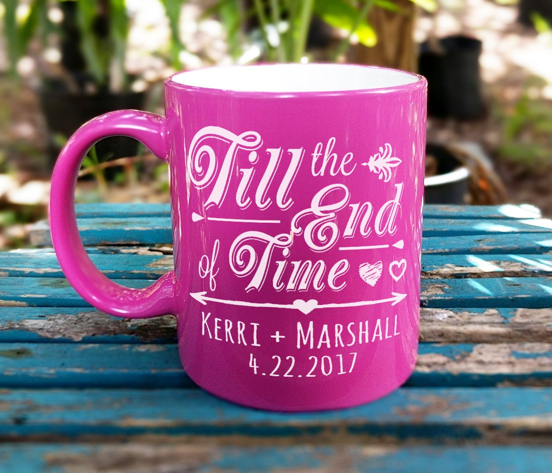 Amazon.com: GOLD Till the End of Time Personalized Couples Coffee ...