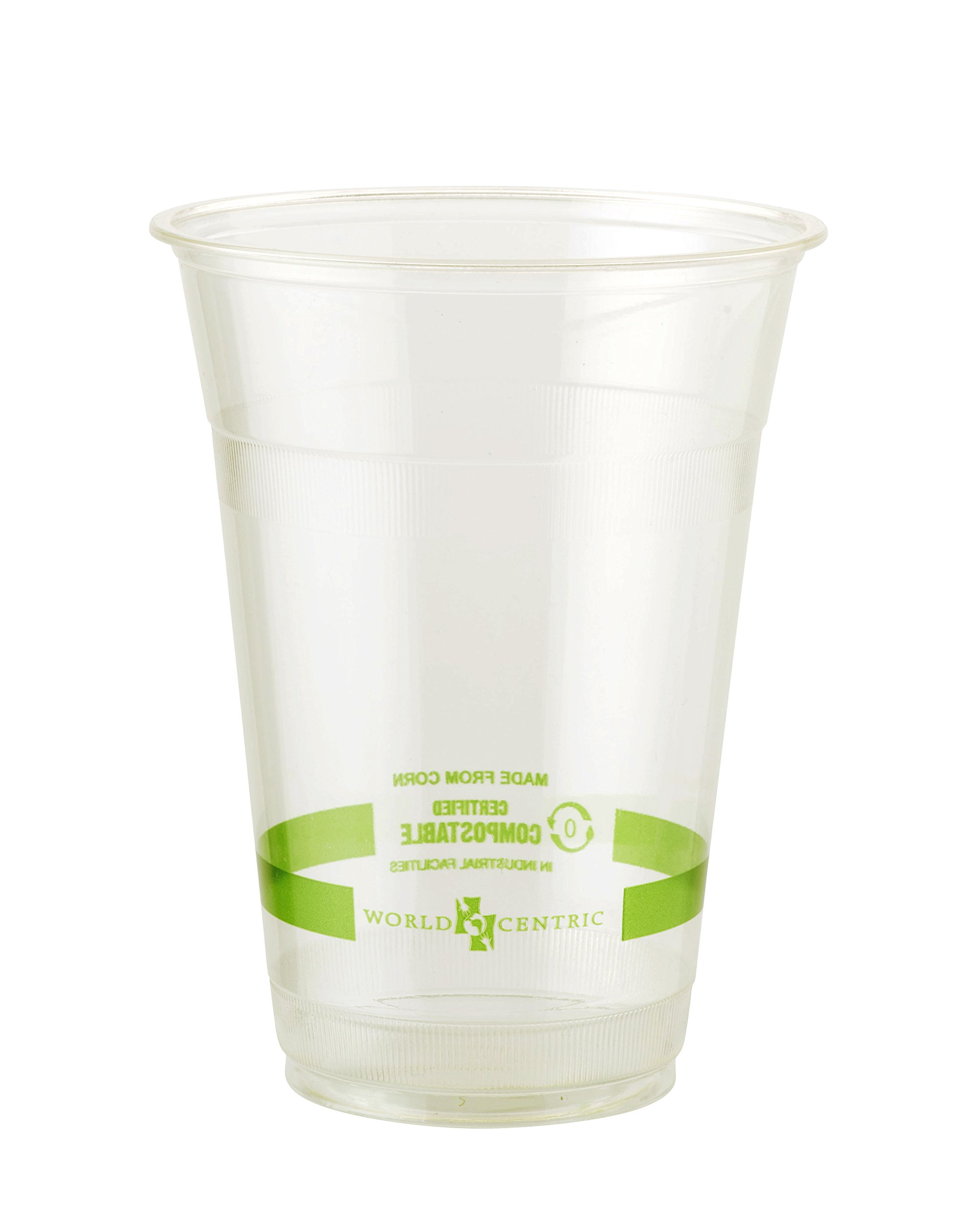 World Centric 100% Compostable Cups by World Centric, Made from Ingeo PLA, for Cold Drinks, Clear, 16 oz (Pack of 1000) by World Centric