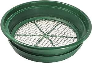 "SE Patented Stackable 13-1/4"" Sifting Pan, Mesh Size 1/2"" - GP2-12"