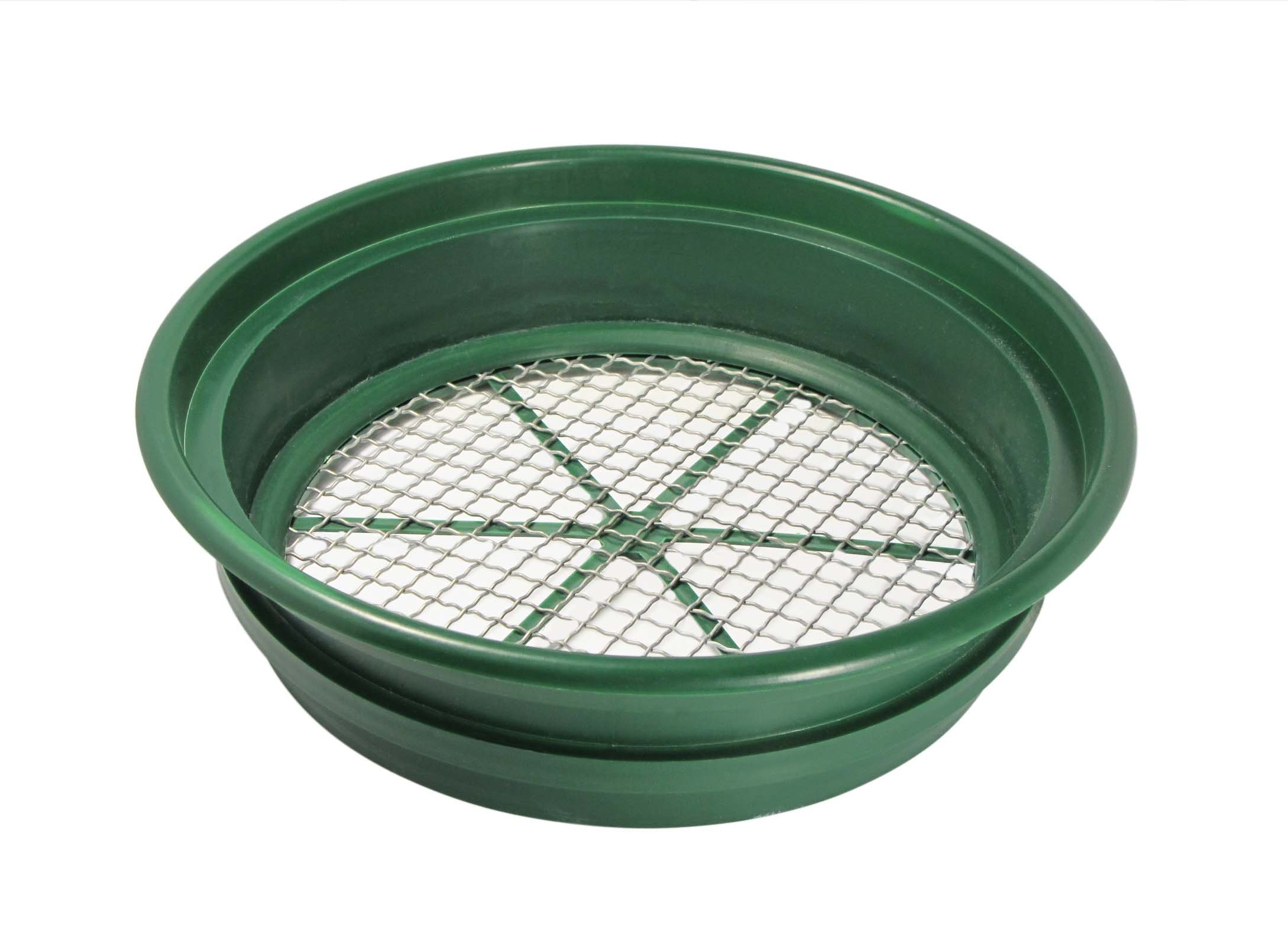 SE GP2-12 Patented Stackable 13-1/4'' Sifting Pan, Mesh Size 1/2''