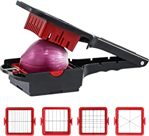 Food Chopper, Vegetable Chopper Easy to Clean Food Choppers and Dicers Hand, Onion Chopper Vegetable Cutter Veggie Chopper for Chopping, Slicing and Dicing