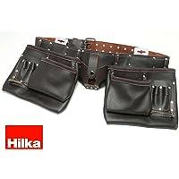 Hilka 77705002Robuster Werkzeuggürtel, aus Ölgegerbtem Leder, doppelt