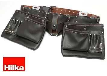2630a30b53623 Hilka 77705002 résistante en cuir tanné à l'huile de ceinture à outils  Double