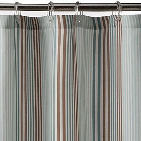 Sonoma Bayside Stripe Fabric Shower Curtain Blue U0026 Brown Stripes Bath