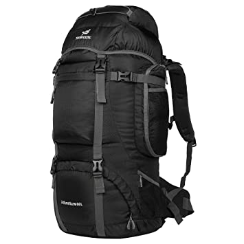 Amazon.com: Coreal 60L Ourdoor Travel Hiking Backpack Black ...