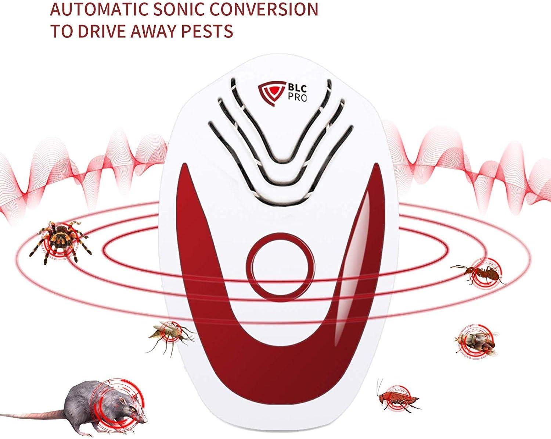 2020 Neueste Automatischen Frequenzkonversionsfunktion Elektronische Insektenschutzmittel f/ür M/äuse Fliegen Schaben Insekten Fl/öhe Ameisen BLCPRO Ultraschall Sch/ädlingsbek/ämpfer