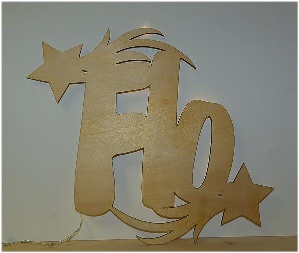 Schlummerlicht24 Sternschnuppen Led Dekoration Mit Name Nach Wunsch Für  Kinderzimmer Oder Das Babyzimmer (Farbe: