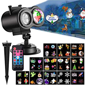 YOUNI Proyector de luces LED para Halloween, con temporizador y ...